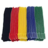 Mmei 50pcs Multi-Purpose Reusable Hook and Loop Cable Ties Fastening Straps Tie downs - 5 Color