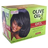Organic Root Stimulator Olive Oil Relaxer (Normal) (3-Pack) with Free Nail File