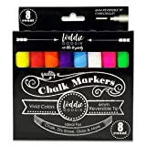 Loddie Doddie 8ct Chalk Markers- VIVID Colors for use on Chalk, Dry Erase and Glass surfaces (Color: Multi-Colored)