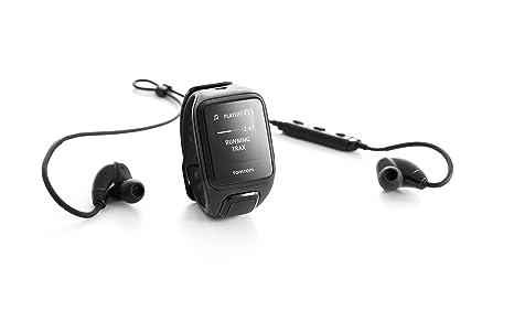 TomTom Spark Cardio + Music + Casque BT - Montre Fitness GPS - Bracelet Fin Noir (ref 1RFM.003.05)