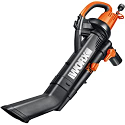 Worx WG505 Electric Power Blower 12-Amp Vacuum Cleaner - Manufacturer Refurbished