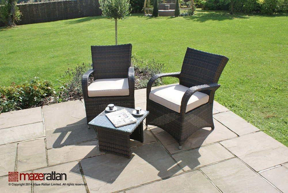 gartenm bel rattan lounge set georgia tisch braun g nstig kaufen. Black Bedroom Furniture Sets. Home Design Ideas