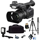 Panasonic AG-AC30 Full HD Camcorder with Touch Panel LCD Viewscreen and Built-in LED Light Outdoor Combo