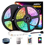 LED Strip Lights Smart WiFi 32.8ft Waterproof RGB 5050LEDs Color Changing Light Strips Work with Alexa, Google Assistant, App and Remote Controlled, 12V Tape Light for Bedroom, Home Decorations (Color: Rgb (Red, Green, Blue), Tamaño: 32.8ft WiFi Led Strip Light Waterproof)