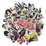 Homyu Stickers Naruto Anime Decals 63-Pcs for Laptops Cars Motorcycle Portable Luggages Ipad Waterproof Sunlight-Proof (Color: Naruto)