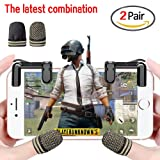 Combination Packaging,Mobile Game Controller(Newest Version), Shoot and Aim Triggers for Sensitive Shoot and Aim Buttons L1R1 for PUBG/Knives Out/Rules of Survival, PUBG Mobile Game Joystick +Mini ga