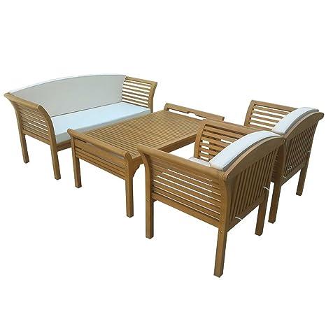 Gartengarnitur MALAGA 4 tlg., hochwertiges Eukalyptus Holz, FSC®-zertifiziert