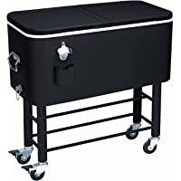 Rio Brands 77-Quart Entertainer Rolling Party Cooler (Midnight Sands)