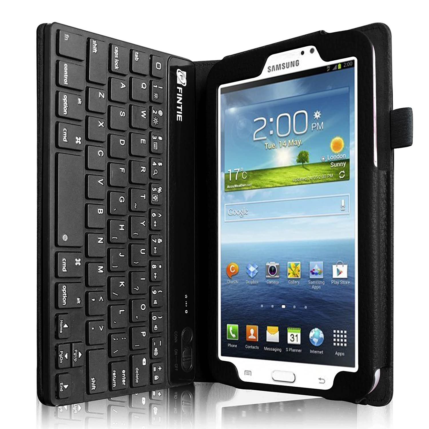 Galaxy Tab3 7 0 Cover Film Touch Pen Bluetooth Keyboard Leather Case ...