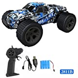 Outsta Radio Remote Control Car, Multiplecolor 2.4GHz High Speed RC Racing Car 4WD Remote Control Truck Off-Road Buggy Toys Truck Vehicle Electric Cars Gift for Boys (Multicolor-D) (Color: Multicolor-D, Tamaño: 21 * 14 * 10cm)