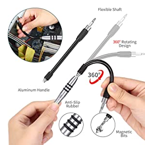 139 in 1 Precision Screwdriver Set, Professional Laptop, PC Repair Tool Kit, with 98 Magnetic Bit Suitable for Cell Phone, iPhone, Tablet, MacBook, Xbox - Grey (Color: Grey)