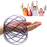 JRD&BS WINL Magic Flow 3D Kinetic Ring Spring Kids Toys for 9-14 Year Old Boys, Stainless Metal Funny Toys for 3-12 Year Old Girls to Play (Purple01) (Color: Purple01)