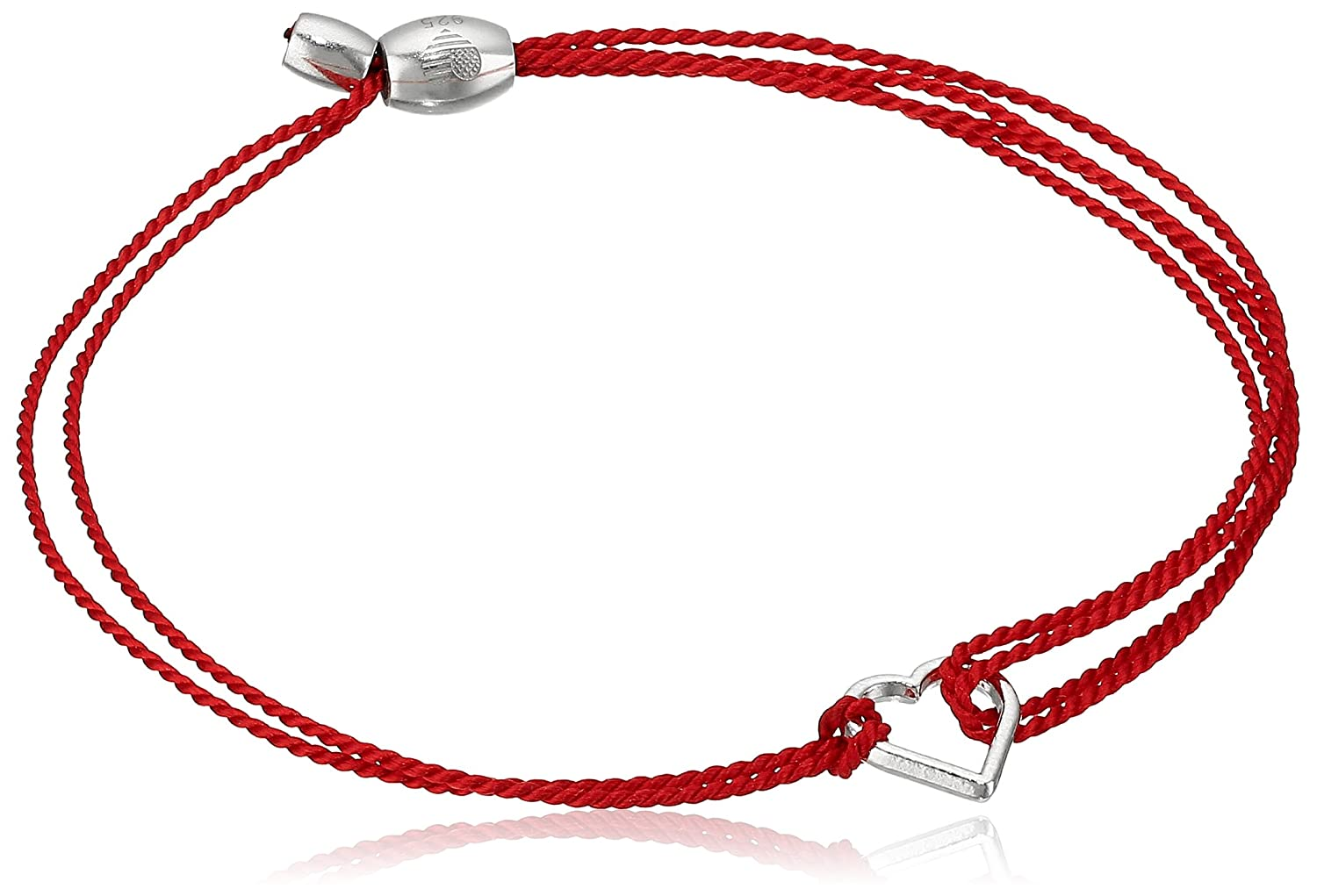 Alex and Ani Kindred Cord Heart Red Sterling Charm Bracelet