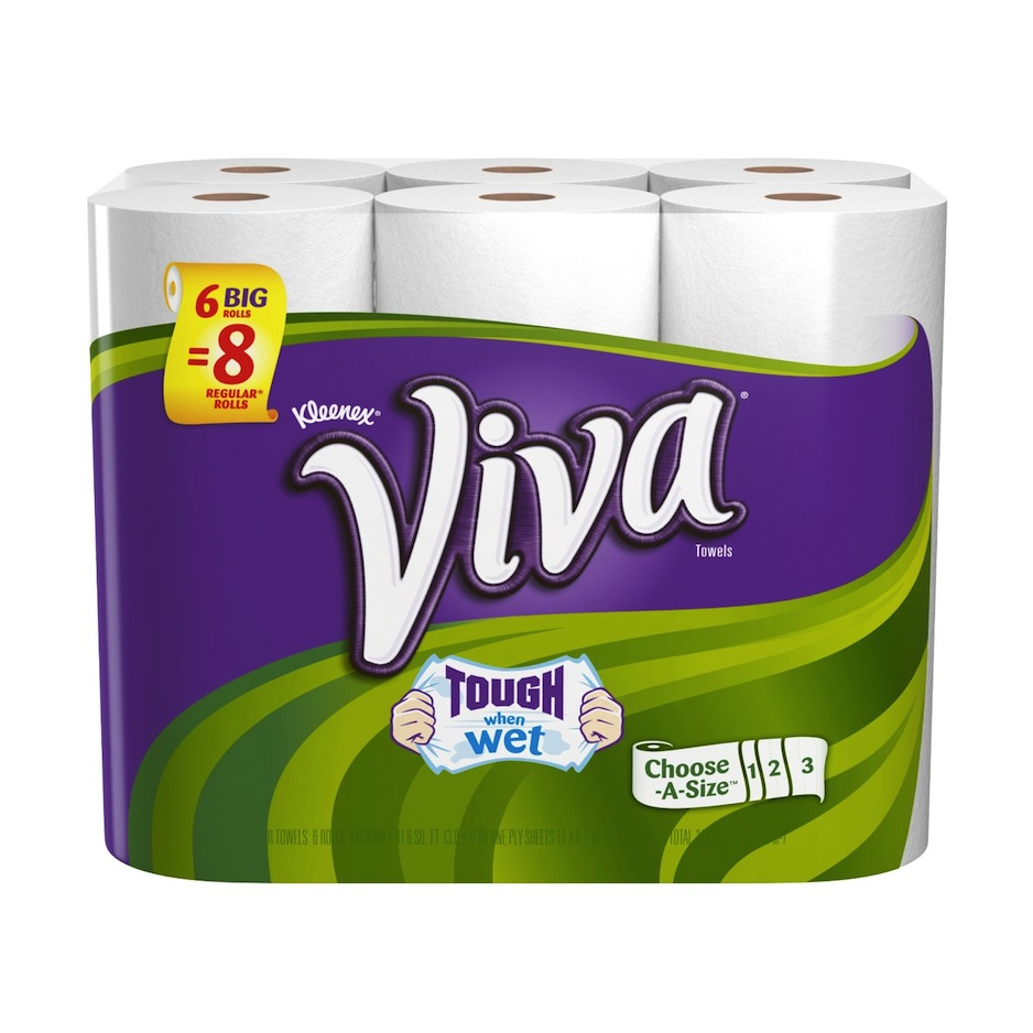 viva paper towels choose a sheet big roll 6 count pack of 4 health personal care. Black Bedroom Furniture Sets. Home Design Ideas