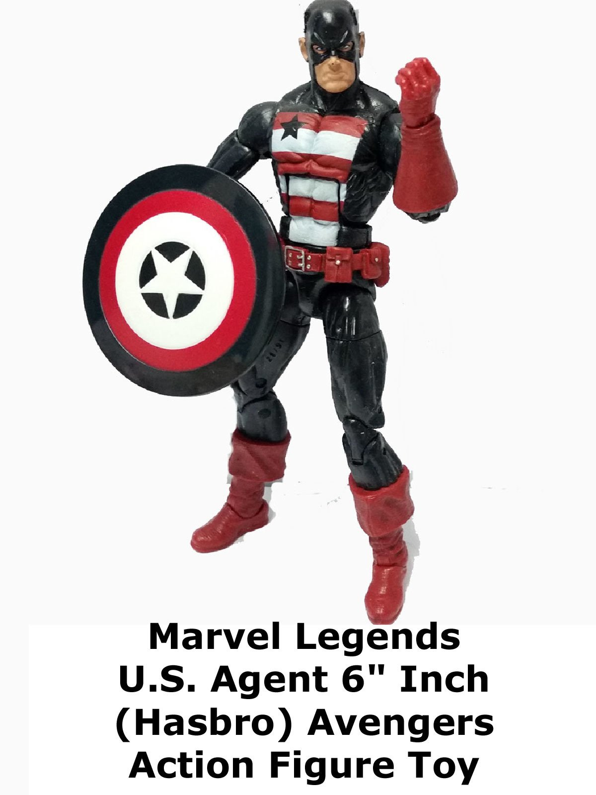 "Review: Marvel Legends U.S. Agent 6"" Inch (Hasbro) Avengers Action Figure Toy on Amazon Prime Video UK"