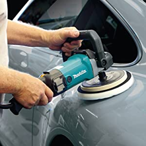 Makita 9237CX3 Makita 7 Polisher, 10 AMP, 600-3,000 RPM, var. spd., loop handle with foam pad and bag, , (Color: As the picture shown, Tamaño: 1 pc)