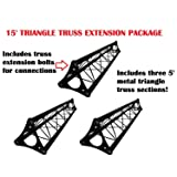 3 x 5ft Lighting Triangle Bolted Truss 15' span Stand Universal DJ Metal 5' NEW
