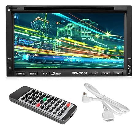 """Lanzar SDN695BT 6,95 """"Double DIN Écran vidéo DVD/MP4/MP3/CD avec mains libres Bluetooth"""