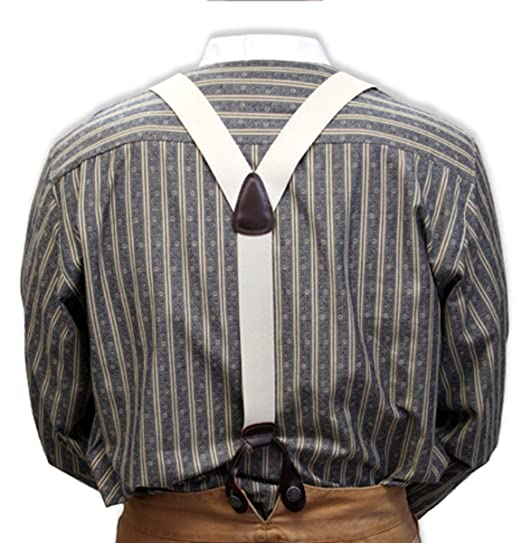 Men's Vintage Inspired Vests Elastic Y-Back Braces $25.95 AT vintagedancer.com