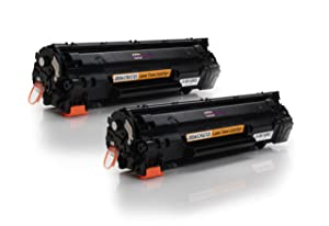 Twin Pack   Compatible Toner Cartridges to HP CE285A   2x Black / ca. 1700 pages   suitable for HP Laserjet PRO M1130 M1132 M1210 M1210MFP M1212NF M1213NF P1100 P1102 P1102W       reviews and more news