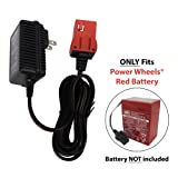 SafeAMP 6-Volt Charger for Fisher-Price Power Wheels Red Battery (Color: Red)