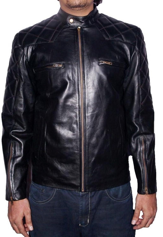 Men's Novan Sheep Black Leather Jacket jetzt kaufen