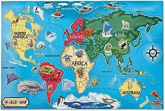 Melissa amp Doug World Map 33 pcs Floor Puzzle 2quotx3quotft