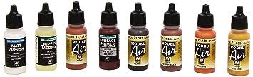 Vallejo Model Air rouille et effets vaisselle set de peinture acrylique pour air brush–Couleurs assorties (Lot de 8)