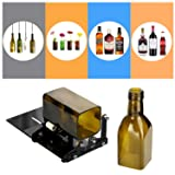 YOSWAN Glass Bottle Cutting Tool Upgrade Version Square and Round Wine Beer Glass Sculptures Cutter for Hand Tool Better Cutting Control Create Glass Flowerpot Making (Stainless Iron Black) (Color: Stainless Iron Black)