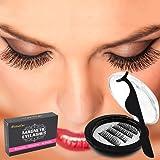 Magnetic Eyelashes, Nature Look Short Bold False Large Magnet Eyelashes No Glue with Eyelash Tweezer (1 Pair 4 Pieces)