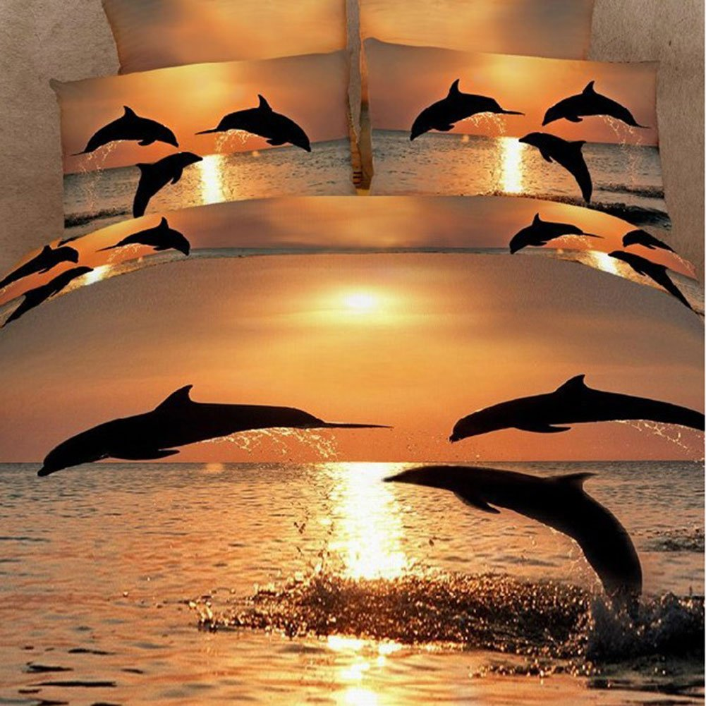 Dolphin Sunset Bedding