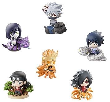Naruto Petit Chara Kuchiyose Ninkai Taisen - Assortiment de 6 Figurines - 6 cm