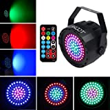 DJ Disco Lights- Stage Lights 78 Leds 2019 New Generation Party Lights, Sound Activated Strobe Wash Lights with Remote and DMX Control Detachable Power Cable for Wedding Party Disco DJ Bar Christmas (Color: 1 Pack)