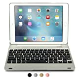 iPad Pro 9.7/iPad Air 2 keyboard case, [NEW] COOPER KAI SKEL Q0 Bluetooth Wireless Keyboard Portable Laptop Macbook Clamshell Case Cover with 14 Shortcut Keys for Apple iPad Air 2/Pro 9.7 Silver