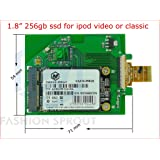 New 1.8 inch 256GB SSD ZIF 5mm Height only for apple ipod 7th gen classic Disk Drive