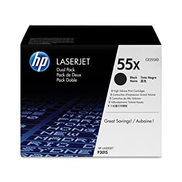 HEWLETT PACKARD HP Lot de 2 Toner Noir CE255XD
