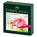 Faber-Castel Pitt Artist Brush Pens (24 Pack), Multicolor (167147) (Color: Assorted Colors)