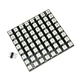 Aideepen 64 LED Matrix WS2812 LED 8x8 5050 RGB Full-Color Driver Board for Arduino (Color: Brown)