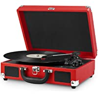 Victrola Nostalgic 3-Speed Vintage Bluetooth Turntable (Red )