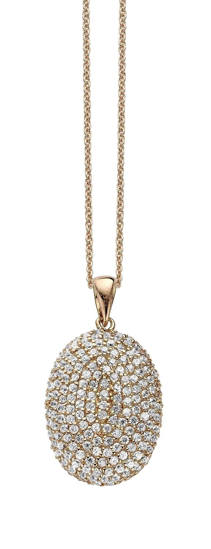 Orphelia Damen-Anhnger mit Kette Rose-Gold Plated 925 Sterlingsilber mit Zirkonia 45 cm PEN-2058
