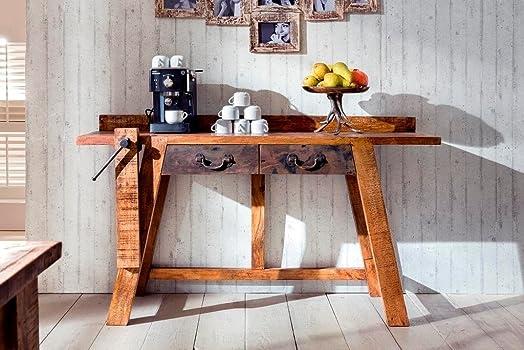 Console scrivania Priya Mango Vintage scrivania scrittoio in legno massiccio