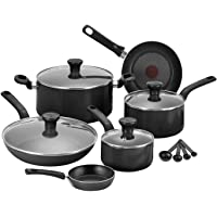 Tefal Excite 7-Piece Aluminium Pan Set (Black)