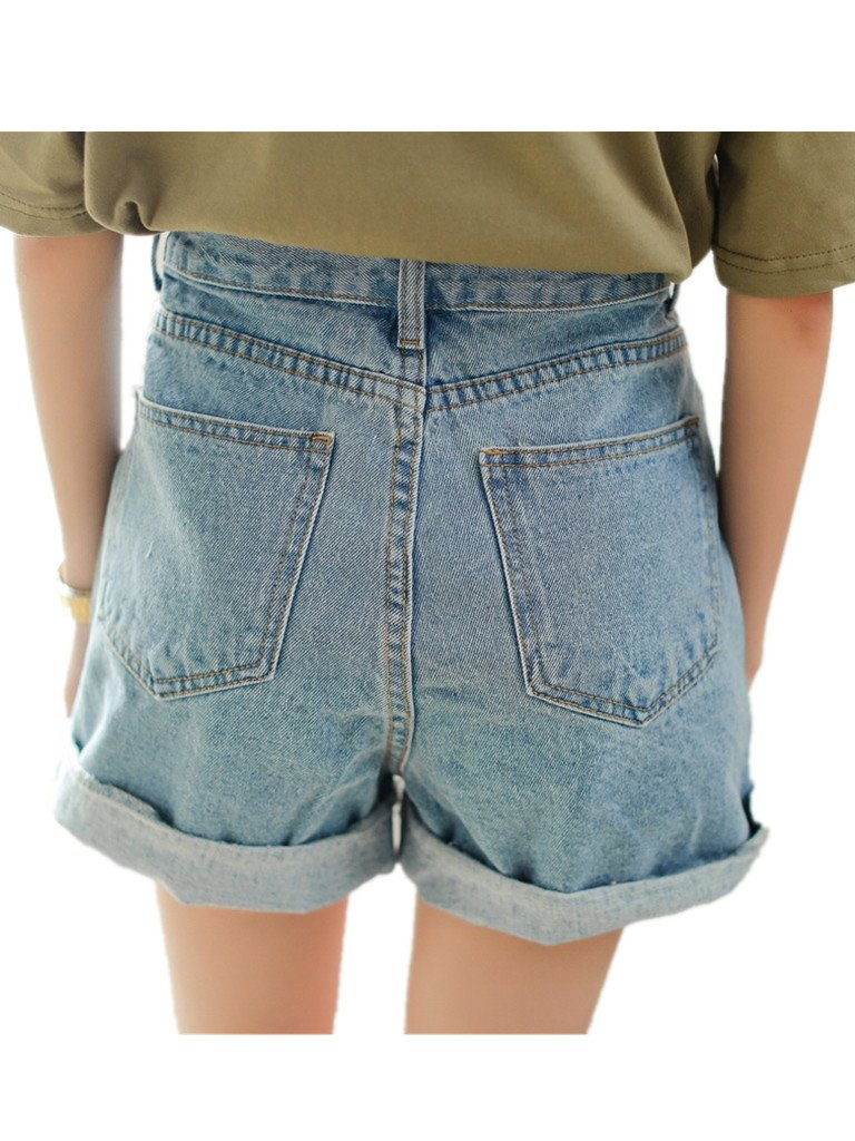 Season Show Girls Denim Shorts Retro High Waisted Jeans Shorts Pant 3