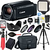 Canon VIXIA HF R80 Full HD CMOS 57x Zoom Built-in Wi-Fi Black Camcorder + 64GB SDXC Memory Card & Deluxe Accessory Bundle