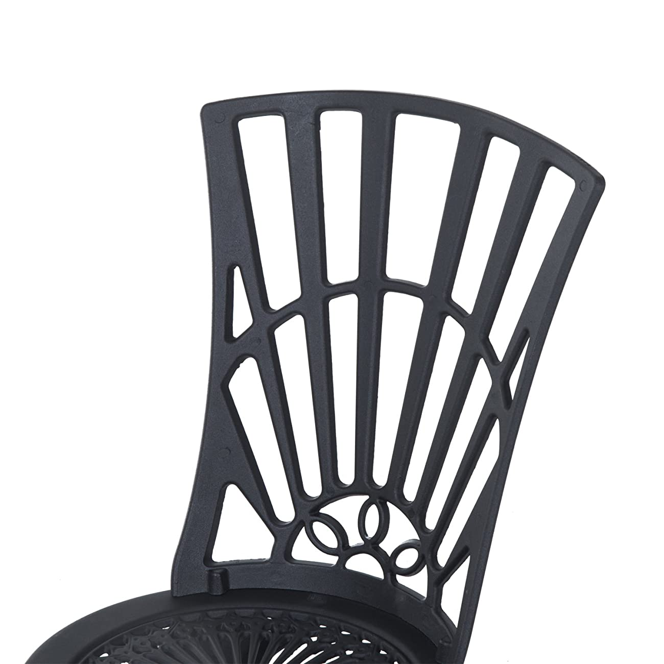 Outsunny 3 Piece Antique Style Outdoor Patio Bistro Dining Set - Black 5