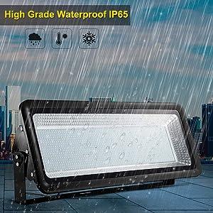 Missbee Super Bright 800W LED Flood Light, 88000lm Outdoor Landscape Flood Light, Security Light, 2800-3000K, Work for Garage, Garden, Lawn,Yard and Playground (Warm White) (Color: 800W Warm White)