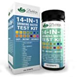 14-in-1 Drinking Water Test Kit - Best Water Quality Test for Well Water and Tap Water - Determines pH-Lead-Total Hardness-Copper-Alkalinity-Chlorine-Fluoride-Iron-Nitrite-Nitrate-& More - 100 Count!