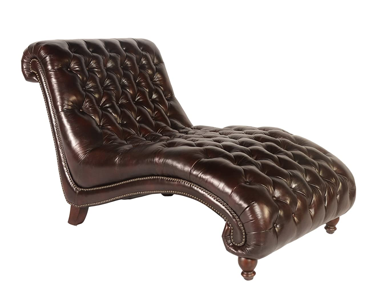 Lazzaro C3988 Double Chaise in Vintage Toberlone Leather 0