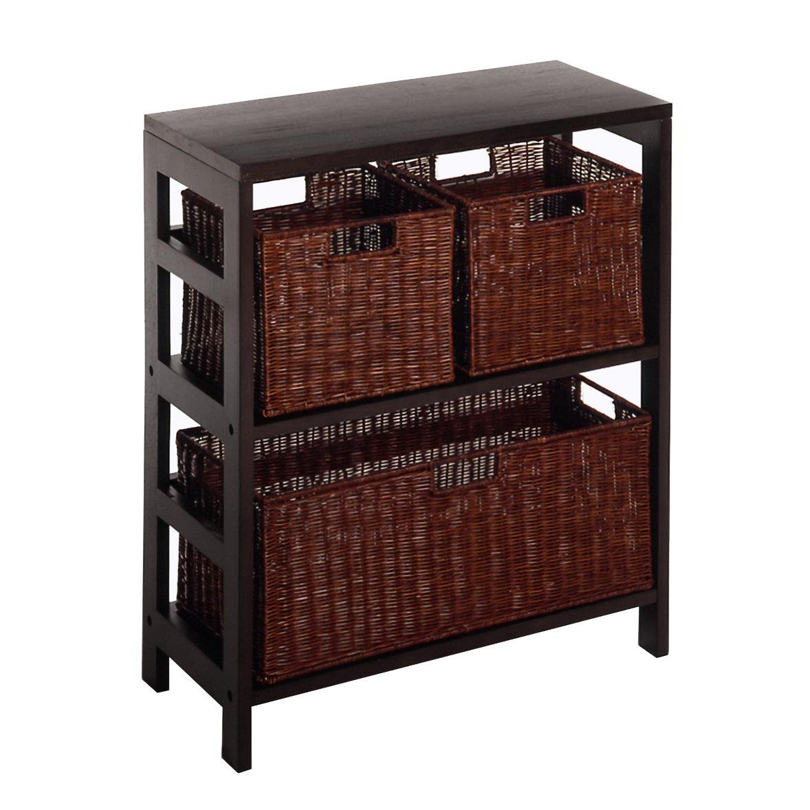 Winsome Leo Storage Shelf with 3 Baskets