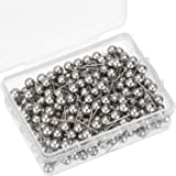 Map Tacks Push Pins Small Size 300 Packs (Silver, 1/5 Inch) (Color: Silver, Tamaño: 1/ 5 Inch)